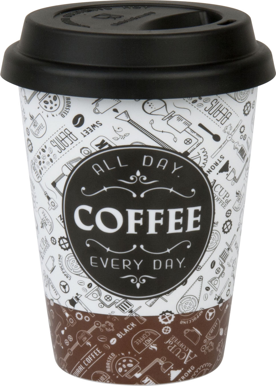 Coffee to go Becher aus Porzellan Kaffee Design