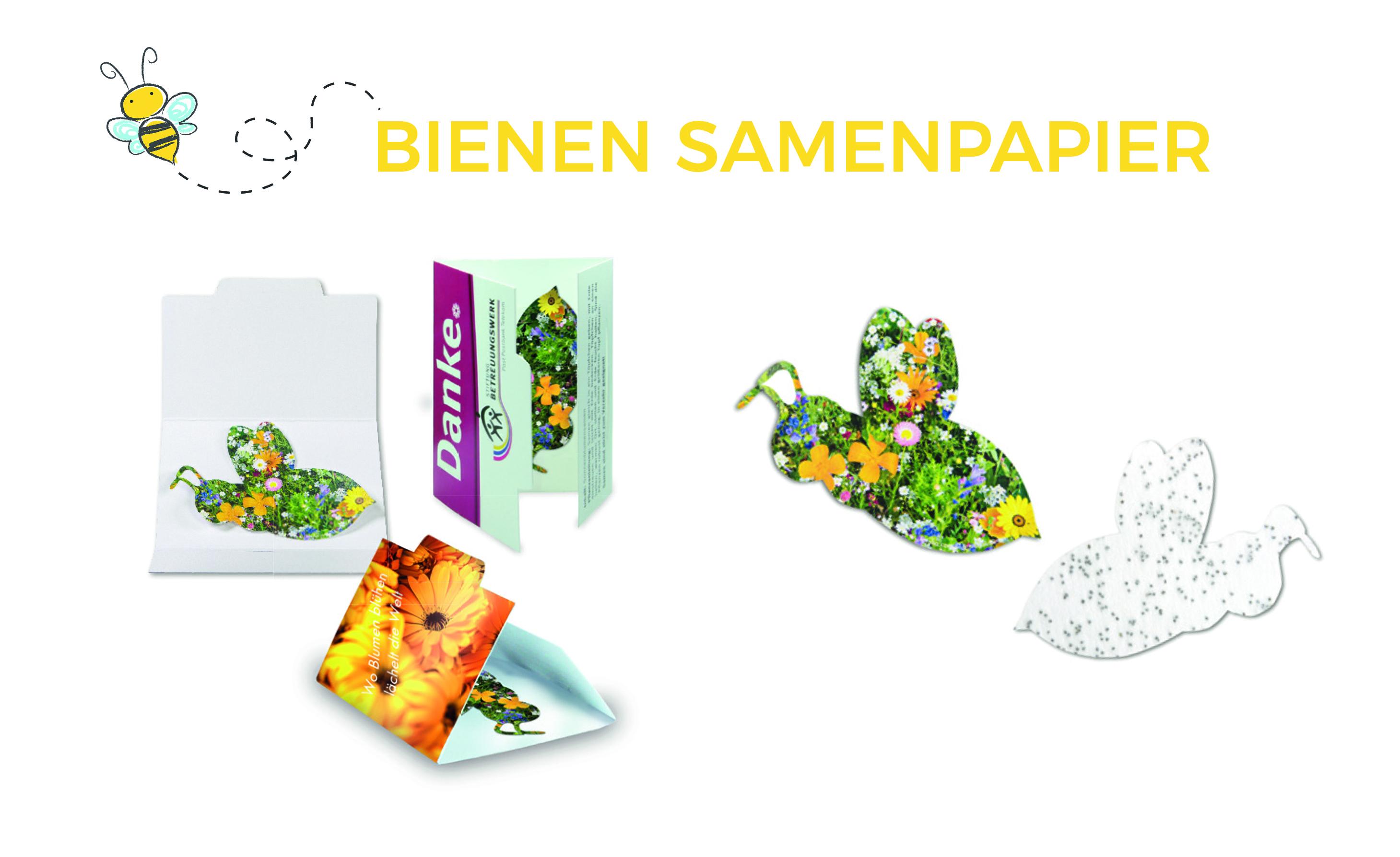 Bienen Samenpapier