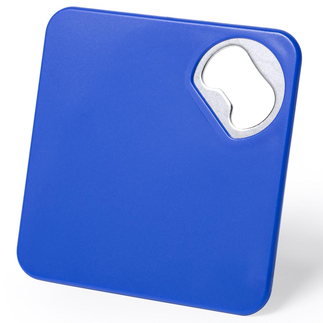 Untersetzer Flaschenöffner blau